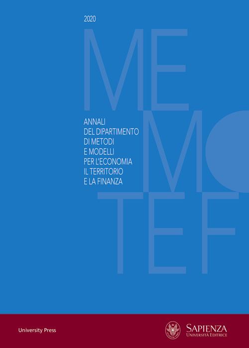 View 2020: Annali del Dipartimento di Metodi e Modelli per l'Economia, il Territorio e la Finanza 2020