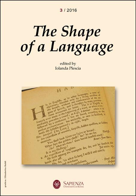 View No. 3 (2016): The Shape of a Language