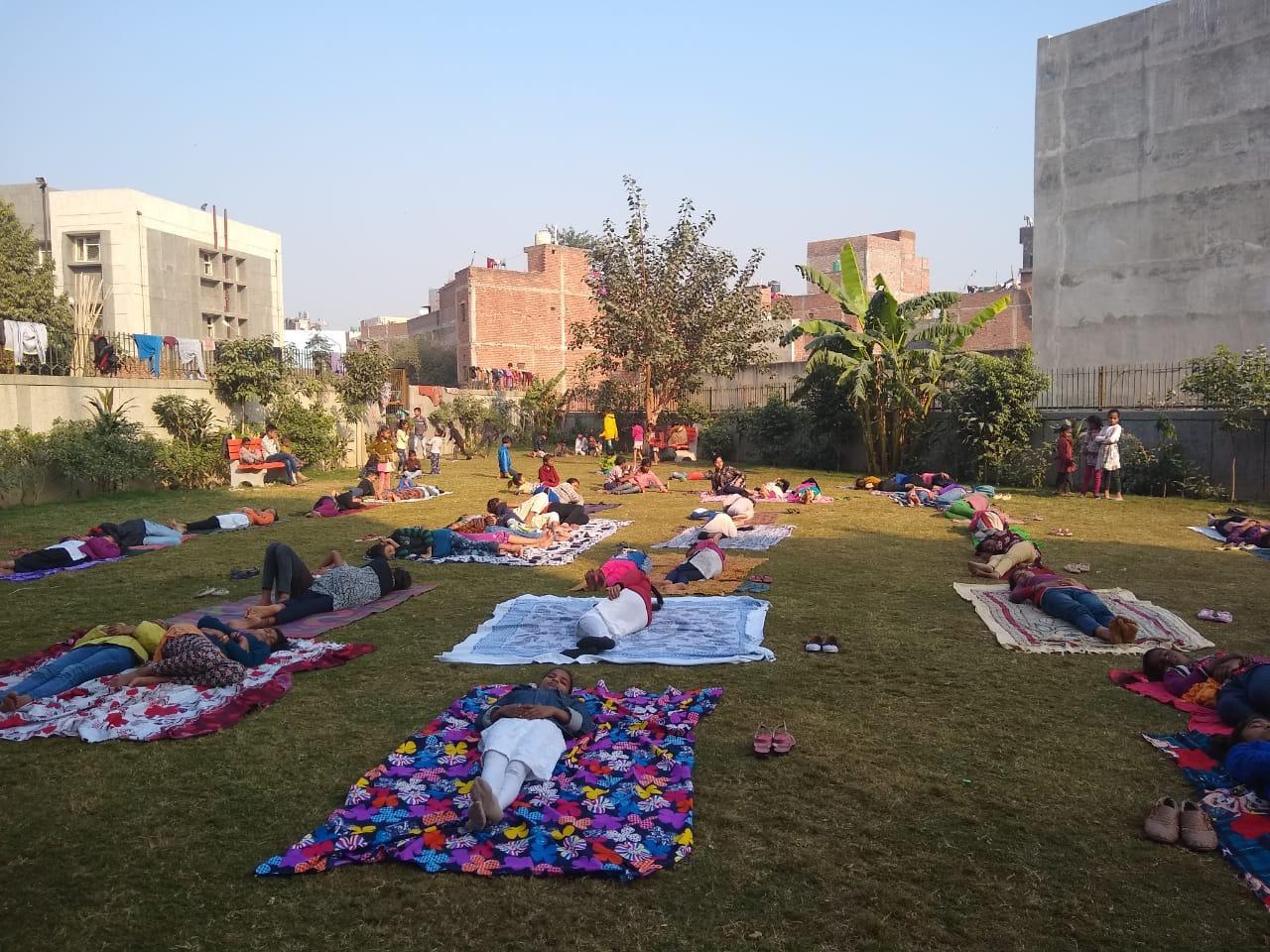"""Meet To Sleep"" Ally, Plan India, AV Baliga Trust and CASP, Delhi (at Mangolpuri Public Park and Madanpur Khadar Public Park)"