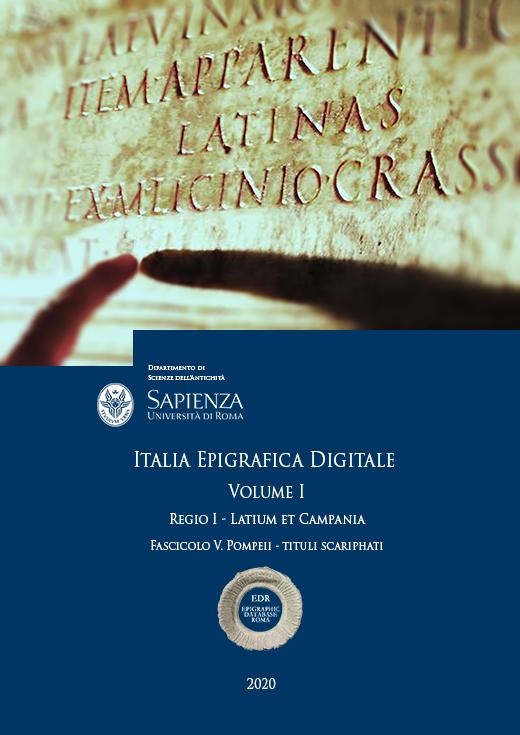 Visualizza V. 1 N. 2.5: Regio I - Latium et Campania. Fascicolo V. Pompeii - Tituli scariphati